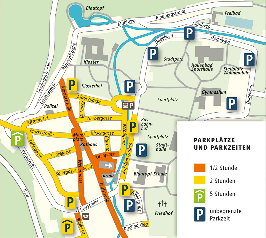 Parkplätze und Parkzeiten 2015