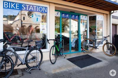 HP Bikestation Aussenansicht mit Tür