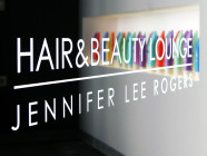 HP Hair and Beauty Lounge Türwerbung