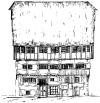 gezeichnetes Fachwerkhaus