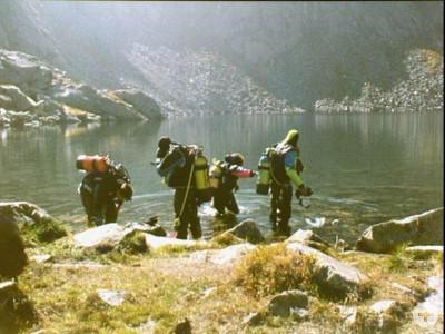 Tauchfoto Bergsee
