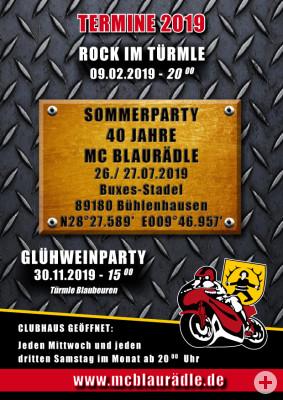 Termine 2019 MC Blaurädle Blaubeuren e.V.
