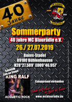 Sommerparty 40 Jahre MC Blaurädle