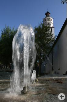 Brunnen bei der Evangelischen Stadtkirche